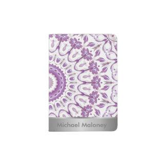 Purple Floral Mandala Passport Holder