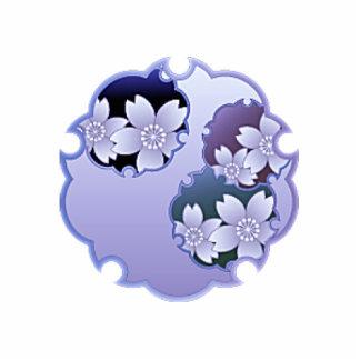 Purple Floral Medallion Photo Sculpture