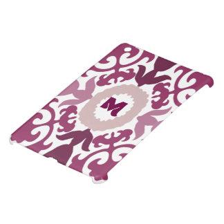 Purple Floral Monogram Case For The iPad Mini