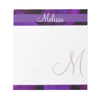Purple Floral Monogram