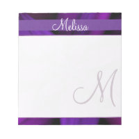 Purple Floral Monogram Notepad
