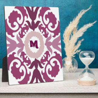 Purple Floral Monogram Plaques
