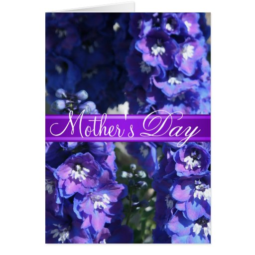 Purple Floral Mother's Day Greeting Card