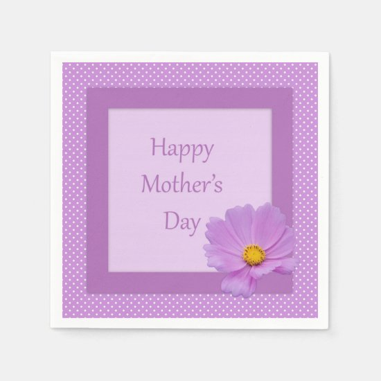 Purple Floral Mother's Day Napkins