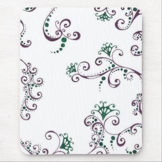 Purple Floral Mouse Pad