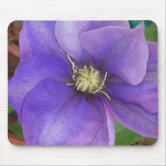 Purple Floral Mousepad mousepad