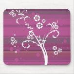 Purple floral mousepad