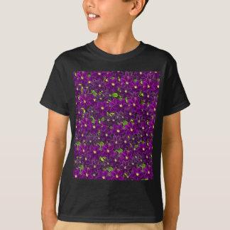 Purple floral pattern T-Shirt