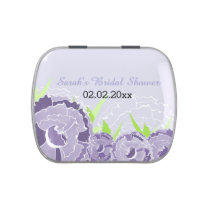 purple floral personalized candy tins