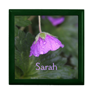 Purple Floral Personalized Gift Box