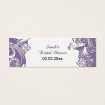 purple floral Personalized Gift Tags