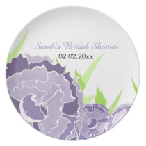 purple floral Personalized Plate