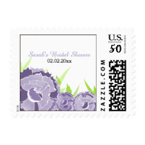 purple floral Personalized Stamps