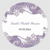 purple floral Personalized stickers