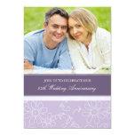 Purple Floral Photo 25th Anniversary Invitation