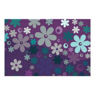 Purple Floral Photo Print