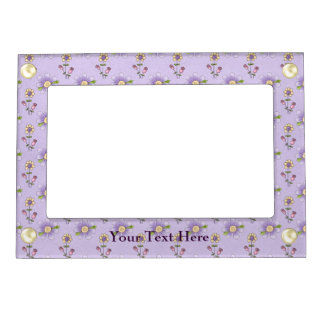 Purple Floral Picture Frame