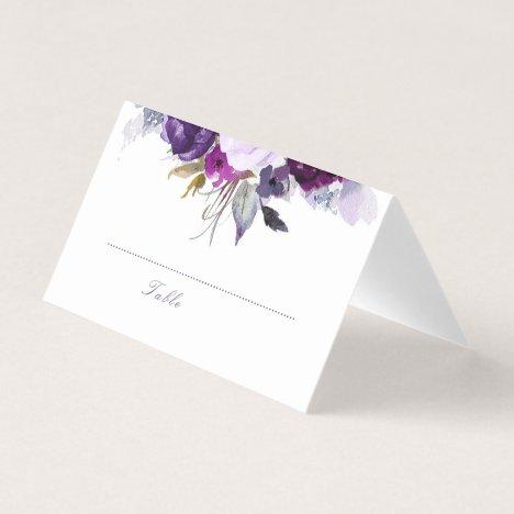 Purple Floral Place Card