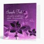 Purple Floral Plants Vinyl Binders