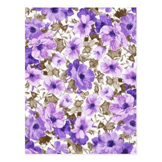 Purple Floral Postcards