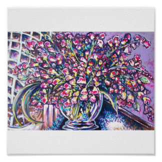 PURPLE FLORAL POSTERS