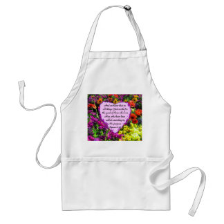 PURPLE FLORAL ROMANS 8:28 PHOTO DESIGN ADULT APRON