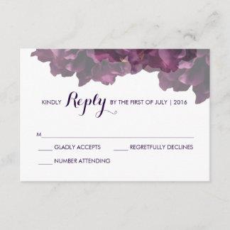 Purple Floral RSVP Card