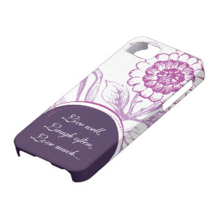 purple floral saying iphone 5 case