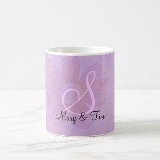 Purple Floral Splendor- Monogram: Coffee Mug