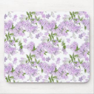 Purple Floral Sprint Mouse Pad