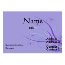 personalize, dooni designs, customize, promotional, swirl, abstract, purple, nature, flower, floral, Business Card with custom graphic design