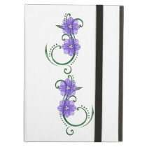 "Purple ""Floral Swirls""  iPad Hard Cover iPad Air Cover"