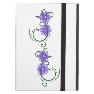"Purple ""Floral Swirls""  iPad Hard Cover iPad Air Covers"