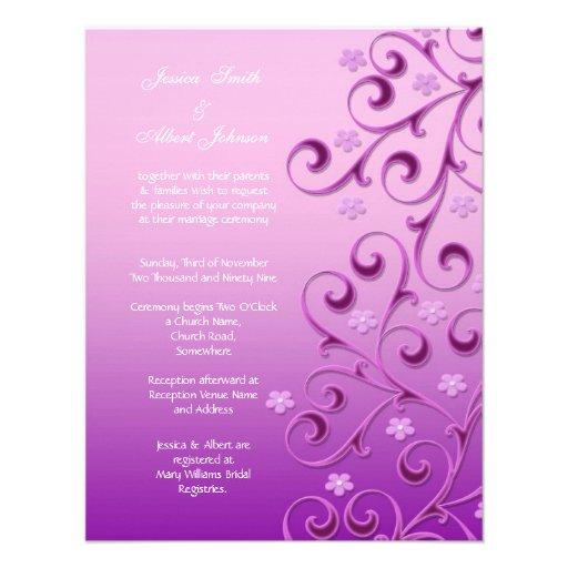 Purple Wedding Invitation Templates
