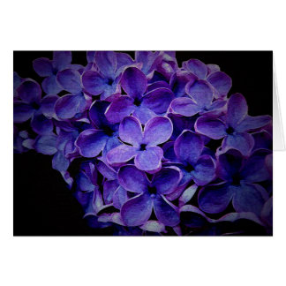 Purple Floral Textured Card