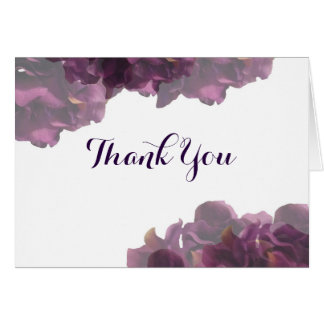 Purple Floral Thank You Notes