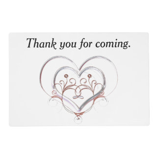 Purple Floral Thank You Placemat