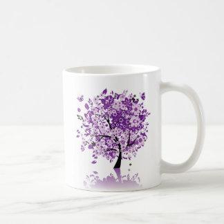 Purple Floral Tree Classic Mug