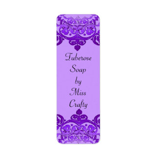 Purple Floral Vintage Art Custom Craft Labels