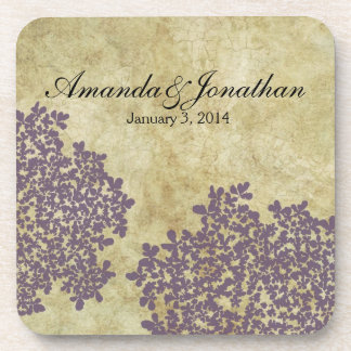 Purple Floral Vintage Coaster