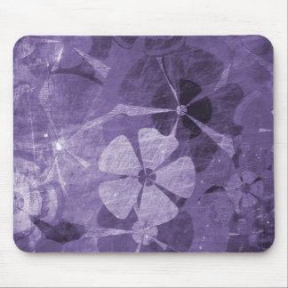 Purple Floral Vintage Mouse Pad