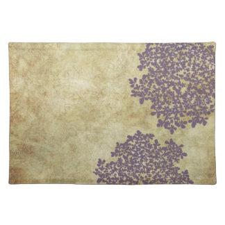 Purple Floral Vintage Placemat