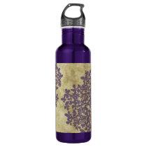 Purple Floral Vintage Water Bottle