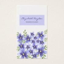 Purple Floral wedding florist Business Cards