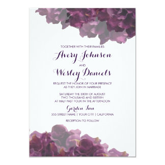 plum wedding invitations & announcements | zazzle, Wedding invitations