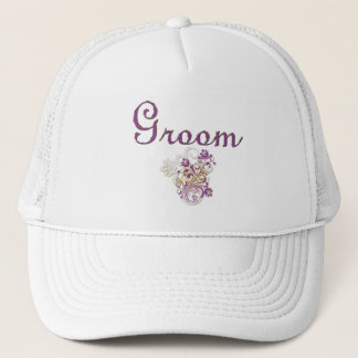 Purple Floral Wedding Invitation Set Trucker Hat