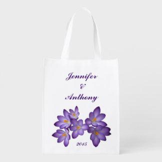 Purple Floral Wedding Market Totes
