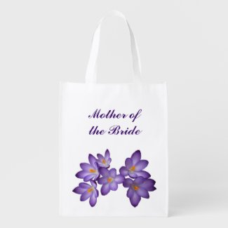 Purple Floral Wedding Mother of the Bride Tote