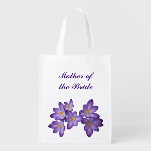 Purple Floral Wedding Mother of the Bride Tote Market Tote