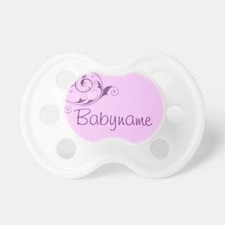Purple Flourish baby pacifier BooginHead Pacifier